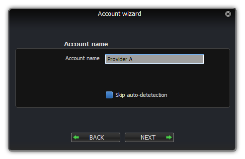 Zoiper linux account wizard account name dialog