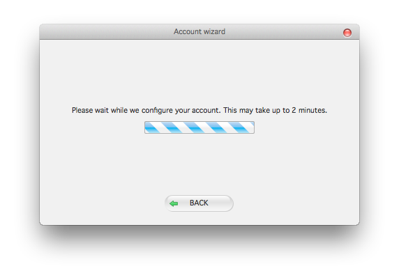 Zoiper mac account wizard configuring account dialog