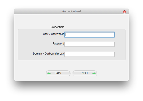 Zoiper mac account wizard credentials dialog