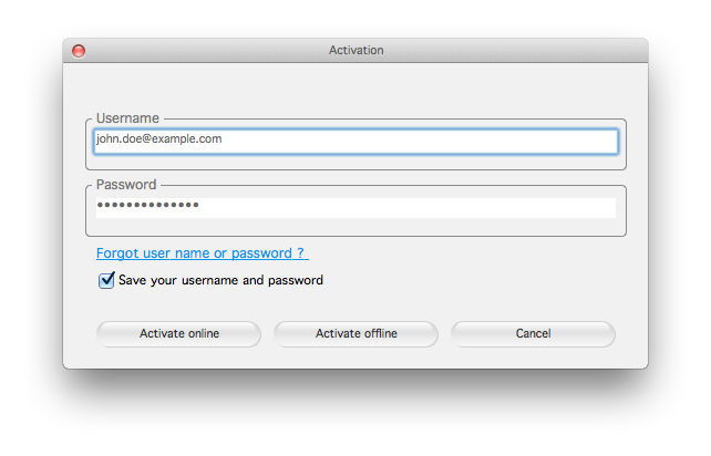 mac activation dialog