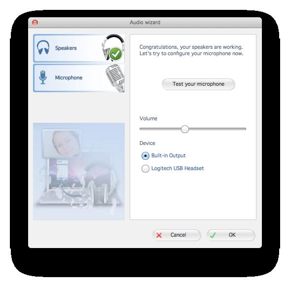 Zoiper mac audio wizard test microphone dialog