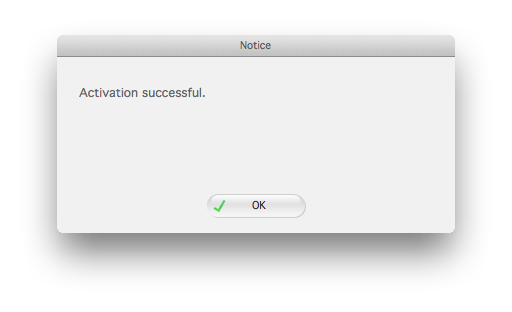 mac notice activation successful dialog