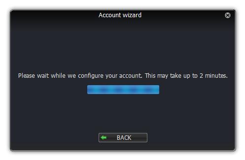 Asistente de cuentas de Windows Zoiper configurar el diálogo de cuentas