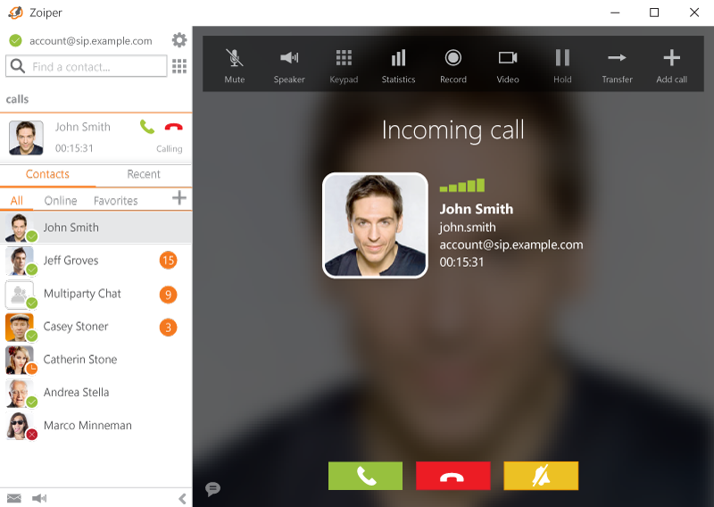 Zoiper - Free VoIP SIP softphone dialer with voice, video and